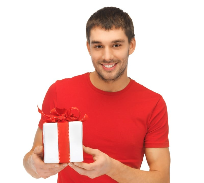 Try Too Hard Guy Giving Present