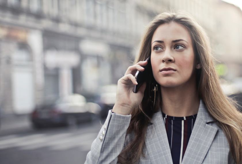 Woman Waiting Phone Message and Call