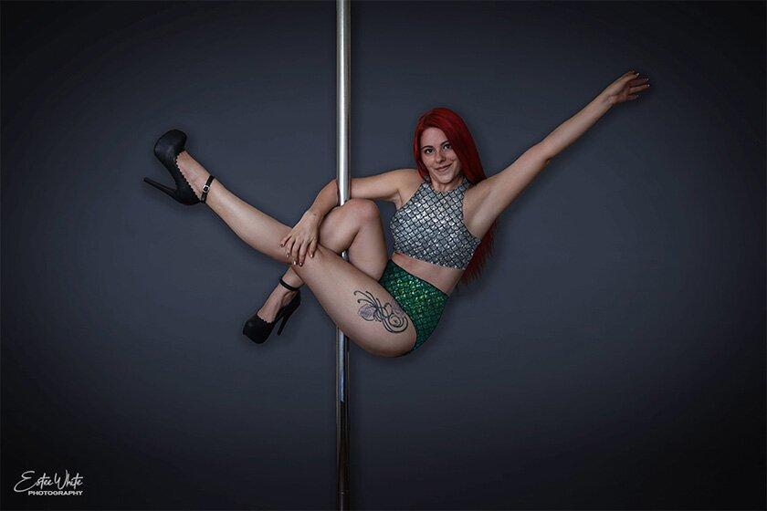 Estee White Pole Dance