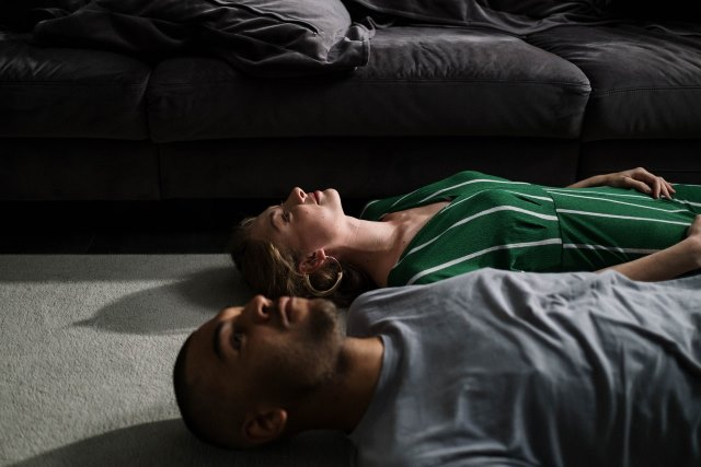 Man Woman Unconditional Love Laying Down