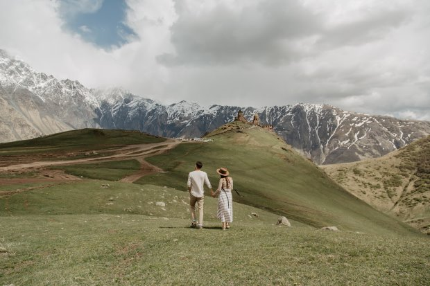 Couple Mountains Attracting New Better Life